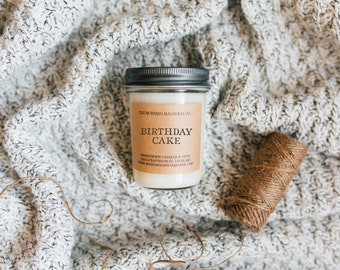 Birthday Cake / Hand-poured, Premium Soy Candle