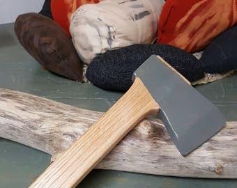 Wooden toy hatchet, kids play hatchet, oak toy hatchet