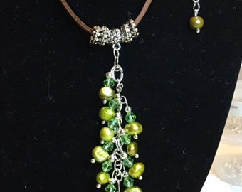 Freshwater Pearl drop pendant necklace/choker