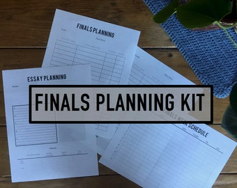 Finals Planning Kit (printable planner)