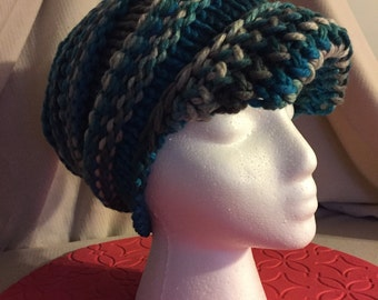 Deep Waters Slouchy Cap with Brim