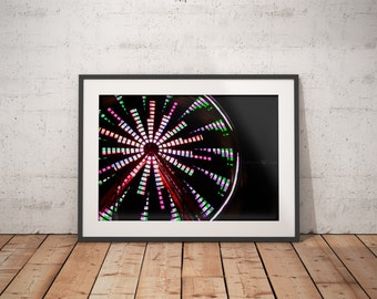 Ferris Wheel Photography-Carnival Photography-Urban Photography-Unique Photography-Nursery Wall Decor-Street Photography-Hipster Room Decor