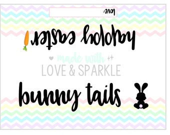 Easter Tags - Easter Gift Tags - Easter Printable Tags – Bunny Tails - Instant Download - Digital Easter – Bunny Tails Easter