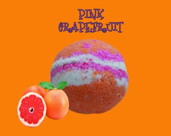 Free Shipping LUSCIOUS GRAPEFRUIT BATHBOMB, bath bomb, grapefruit, large, gift, present, favor, bathbomb