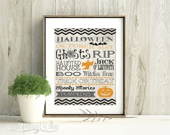8x10 and 11x14 Halloween Digital Printable Subway Art 05
