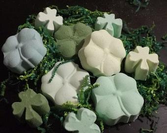 St. Patrick's Day SHAMROCK bath bombs - SMALL