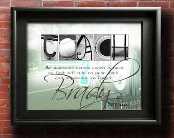 Tennis Coach Gifts, DIGITAL, Tennis Coach,  Gift For Tennis Coaches, Tennis Coach Thank You, Tennis Coach Gift Ideas, PRINTABLE Coach Gifts