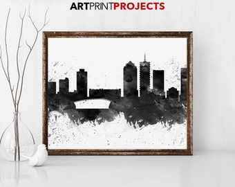 Cape Town print, Poster, Wall art, Cape Town South Africa skyline, City poster Typography art Gift Home Decor Digital Print ArtPrintProjects