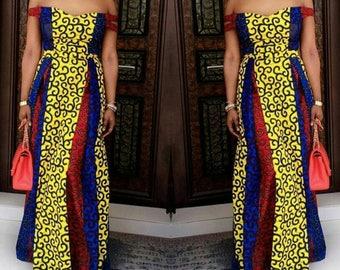 African print prom dress/ African prom dress/ African dress/ African print dress/ African gown/ Prom gown/prom dress/African print/ African