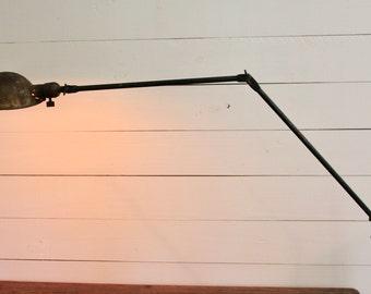 Vintage Industrial Articulating Desk Lamp, Industrial Task Light, Machine Age Factory Task Light, Articulating Shop Lamp