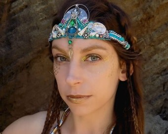 Mermaid Crown in Teal