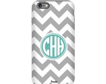 Monogram iPhone SE Case - Chevron iPhone 7 Case - iPhone 6s Case - iPhone 5S Cover - iPhone 4 Case - Cute iPhone 7 Plus Case - iPod 5g Case