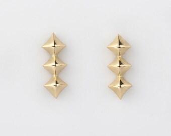Rhomboid Earstuds 18K Gold/FineJewelry/18K Stud Earrings