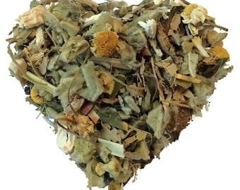 THRIVE TEA. Organic herbal tea. Loose leaf tea. Wellness digestive blend. 2oz kraft bag.