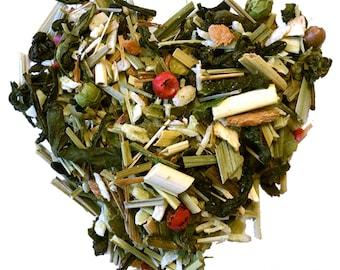 TOM KAH TEA. Organic green tea. Loose leaf tea. 2oz kraft bag.