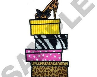 Shoeboxes Appliques - Machine Embroidery Design