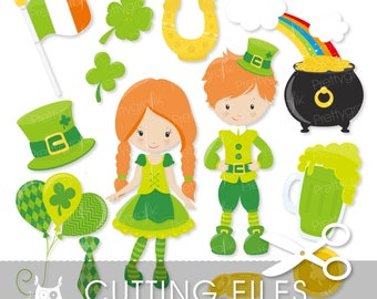 St-patrick's day cutting files, svg, dxf, pdf, eps included - cutting files for cricut and cameo - Cutting Files SVG - CT639