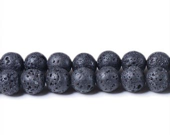 8 mm lava beads black beads 8 mm lava rock volcano lava volcano beads black lava stone rough lava 8 mm gemstone beads boho beads stone beads