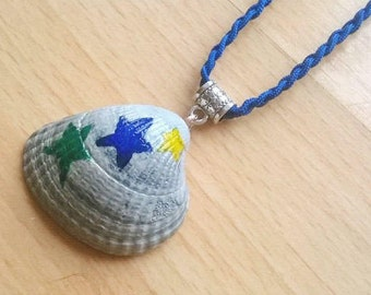 Painted Shell Necklace - Stars
