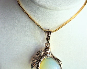 Golden dragon claw necklace