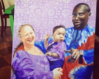 """Family portrait 60cm x 80cm (±23.5"""" x 31.5"""")"""