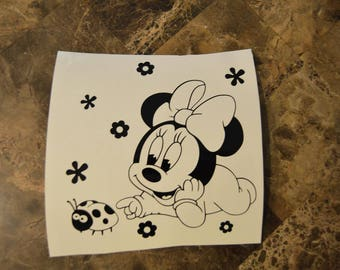 Baby Minnie Mouse Vinyl Decal Disney Style