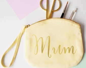 Mum, Make Up Canvas Pouch, clutch bag