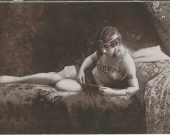SET | Turkish Beauty | Languid Nude in Harem | Exotic | German Antique Postcards | Orientalism | Risque | Scheherazade |
