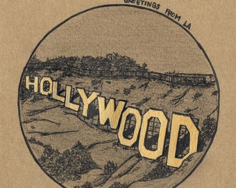 Greetings from LA Art Series: Hollywood Sign PRINT