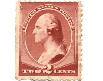 2 Cent Stamp Etsy