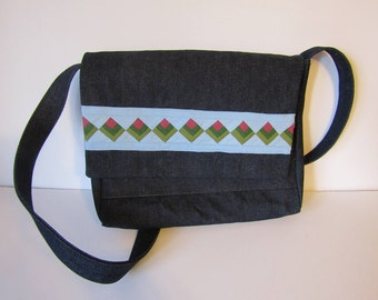 Seminole Pieced Messenger Bag