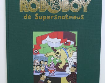 Roboboy 3 with green linen cover with original drawing