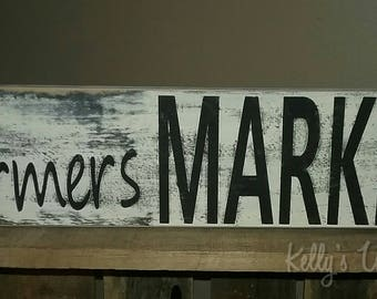 Farmers Market Sign Wall Decor Kitchen Decor Farmhouse Country Decor Primitive Rustic