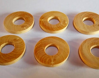 6 washers boxwood spacers for battery - shell drum Ø23 - Ø9