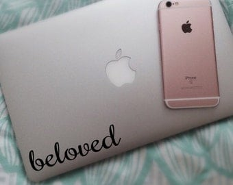 Beloved Decal - Beloved Sticker  - Laptop Decal - Laptop Stickers - Laptop Sticker - Vinyl Decal Vinyl Sticker