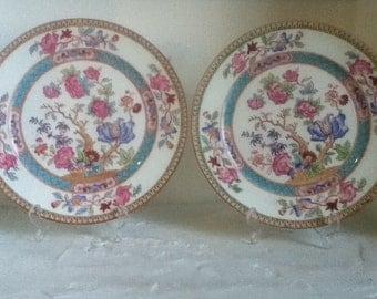 two antique cauldon ceramic display plates art nouveau period