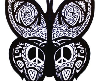 Butterfly Coloring Page Digital Download Adult