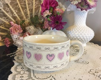 Princess Frilly Ruffled Valentines Hearts Coffee Mug Soup Cup K.I.C. Shabby Chic Chobits, Cottage Chic, Geeky Nerdy