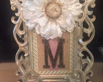Monogram Floral Frame