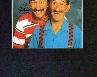 CHUCKLE BROTHERS Mounted Signed Photo Reproduction Autograph Print A4 175