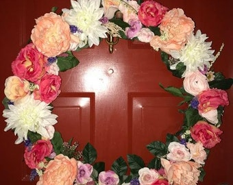Pretty in Pink Spring Wreath