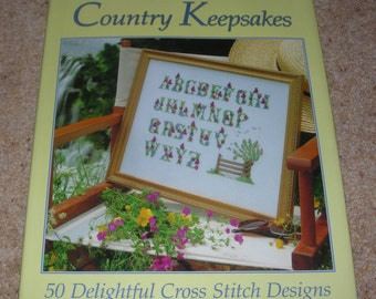 COUNTRY KEEPSAKES - CROSS Stitcher - Large hardcover with dust jacket - 126 pages