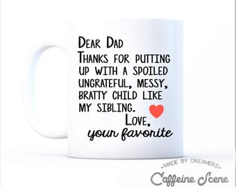 Funny Gift For Dad Fathers Day Dear Dad Papa Pop Grandparent Gift From Daughter Son Sibling Children Coffee Cup Mug Grandpa Daddy Father Pop