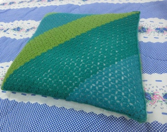Green Diagonal Stripes Decorative Pillow