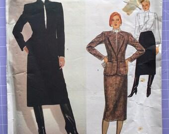 Vintage 1980s Vogue American Designer Calvin Klein Pattern 1063, Size 10