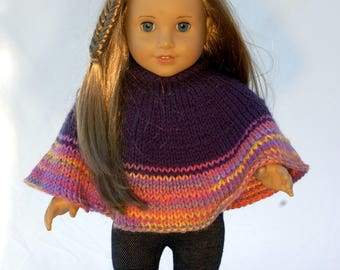 American Girl 18 inch doll poncho in purple