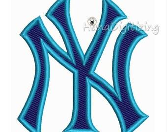 New York Yankees Logo Machine Embroidery Design 7 Sizes