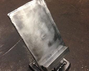 Gnarly welded metal phone holder