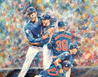 Chicago Cubs 2016 World Series Print
