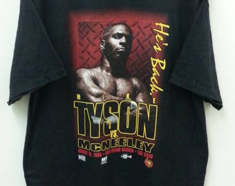 Vintage MIKE TYSON vs. McNEELEY//1995 Big Tyson Spell out//Size XL//Tultex Tag
